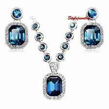 Unbranded Sapphire White Gold Fashion Jewellery Sets