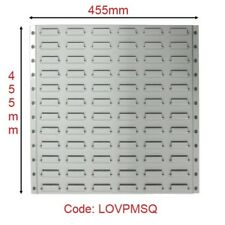 Metal Louvre Panels Square for plastic parts bins