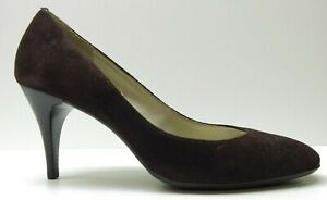 Talbots Brown Suede Leather Slim Heel Career Dress Pumps Heels 6