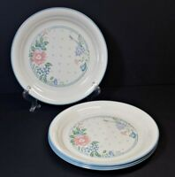 "Vtg Corelle Corning Symphony Salad Lunch Luncheon Plates Flower 8.50"" Set 4 NICE"