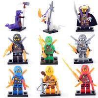 Ninja Ninjago Jay Cole Kai Pythor Lloyd Chen 9 Minifigures Building Toys lego