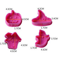 4pcs Biscuit Halloween House Ghost Hat Cookies Cutter Pressing Mould  Pumpkin