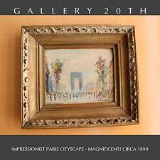 19TH CENTURY ORIG POST IMPRESSIONIST POINTILLIST PAINTING! Paris Seurat Renoir
