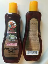 Pair of Australian Gold Dark Tanning Accelerator Tanning Lotion Indoor Outdoor