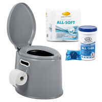 ProPlus Campingtoiletten Set, Camp4 Toilettentabs Toilettenpapier für Wohnmobil