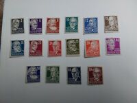 German Democratic Republic Stamps Russian zone  1948 mounted mint set of 16