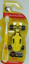 1 Brush Buddies Kids Toothbrush With Race Car Perfect Child Fit Head Yellow NIP
