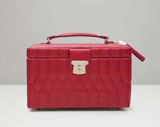WOLF 329772 Caroline Red Quilted Medium Jewelry Case