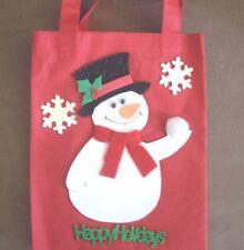 HAND CRAFTED CHRISTMAS SNOWMAN GIFT BAG