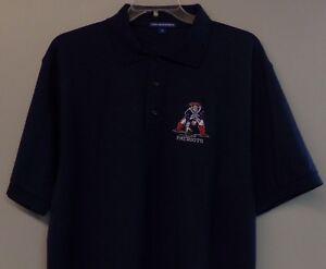 New England Boston Patriots Retro Logo Embroidered Mens Polo XS-6XL, LT-4XLT New