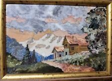 New listing Italian Pietra Dura Inlay Stone Plaque Signed