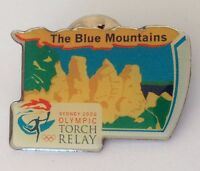 The Blue Mountains Sydney 2000 Olympics Torch Relay Pin Badge (H2)