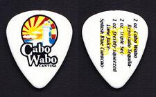 Sammy Hagar Signature Cabo Wabo Margarita Recipe Guitar Pick - 2000 Tour