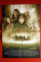 LORD OF THE RINGS RETURN OF THE KING 2001 RARE SERBIAN MOVIE POSTER