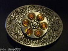 ✖ Smith & Wesson 44 MAG Gun Spinner Bullet Metal Belt Buckle collectible S&W