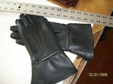 WOMEN'S BLACK DEERSKIN LEATHER SHORT CUFF DRIVING GAUNTLETS  - MADE IN USA