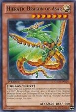 HIERATIC DRAGON OF ASAR x3 Yugioh Rare Card Mint GAOV-EN024 3x Cards