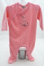 Grain de Blé grenouillère rose velours motif lapine danseuse bébé fille 3 mois
