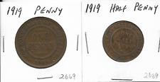 1919 Australian Penny & Halfpenny Pair