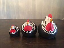 Ceramic Chickens Handmade in New Zealand - 3 Happy Hens