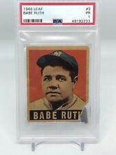 1948 Leaf Babe Ruth #3! PSA 1!