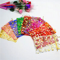 100 PCS Organza Jewelry Candy Gift Pouch Bags Wedding Party Xmas Favors Decor JP