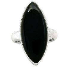 Black Onyx 925 Sterling Silver Ring Jewelry s.7 BOXR1034 BOXR1034