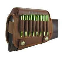 Tourbon Rifle Cheek Riser Rest Cartridges Carry Buttstock Leather Vintage Shoot