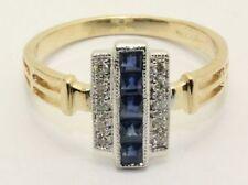 Sapphire Cluster Multi-Tone Gold Fine Rings