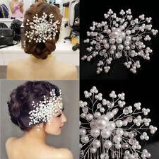 Charm Delicate Bridal Crystal Pearl&rhinestone Headpiece Bride Wedding Hair Comb