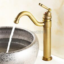Antique Brass Bathroom Faucet Vessel Sinks Faucet Cold And Hot Water Tap  lnf015
