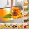 Sunflower Flannel Door Mat Non-slip Water Absorption Carpet Floor Decor Beamy