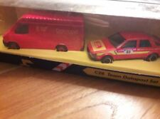 CORGI 1/43 - C28 Team DATAPOST - Ford Transit Royal Mail + SAAB 9000 Post office