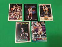 John Stockton 5 Card Lot: Upper Deck Topps Fleer Skybox Utah Jazz Basketball