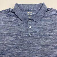 Haggar Polo Shirt Men's 2XL XXL Short Sleeve Gray Blue Casual 100% Polyester