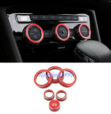 6PCS Center Console Air Condition Knob Circle For Volkswagen VW Tiguan 17-18