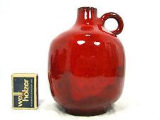 Well shaped WG Hoy Keramik pottery vase  red glaze variation 44 / 14  15 cm