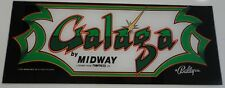 Galaga Arcade Game Marquee on lexan