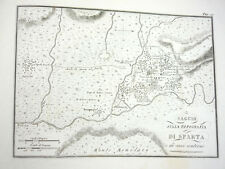1825C ANTIQUE MAP GREECE GREEK SPARTA SPARTAN HISTORY ENGRAVING PRINT ARCHEOLOGY