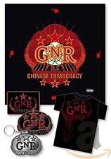 Guns 'N' and Roses Chinese Democracy Box Set + T-shirt + Keyring + Patch - NEW