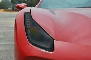 Ferrari 488 Smoked TINT Headlight Blackout Lens Pre Cut PPF Vinyl Decal Overlay
