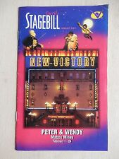 February 2002 - New Victory Theatre Playbill - Mabou Mines' Peter And Wendy