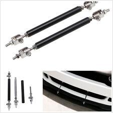 One Pair 75mm Adjustable Car Front Bumper Lip Splitter Rod Strut Tie Bar Support