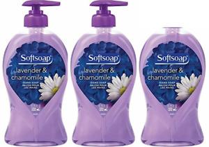 3 pack (1 has broken pump) Softsoap Liquid Hand Soap Lavender & Chamomile 11....