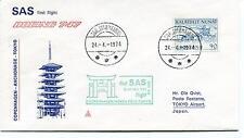 '74 SAS First Flight Stromfjord Copenhagen Anchorage Tokyo Polar Antarctic Cover