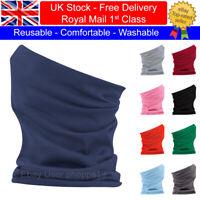 Comfortable Neck Warmer Gaiter Balaclava Tube Scarf Face Mask Marku Solid Colour