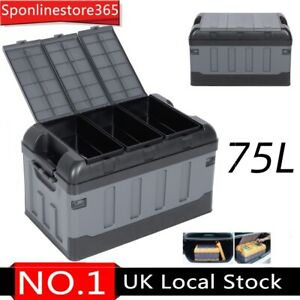 Car Trunk Storage Box Boot Organizer Cargo Tidy Collapsible Case Large 75L