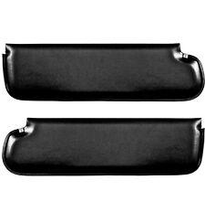 1967 68 69 70 71 72 Chevy Pickup Truck Sunvisor Pad Black Pair Right & Left Side