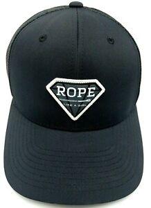 ROPE LIKE A GIRL Hooey Brand Hat black adjustable snapback cap