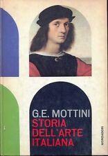 Storia dell'Arte Italiana G.E. Mottini  Arnoldo Mondadori Editore 1962